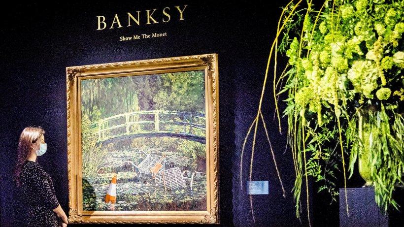 Banksy: Monet-Interpretation versteigert - Zweithöchster Auktionspreis